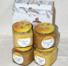 Подарочный набор 4 мёда №1