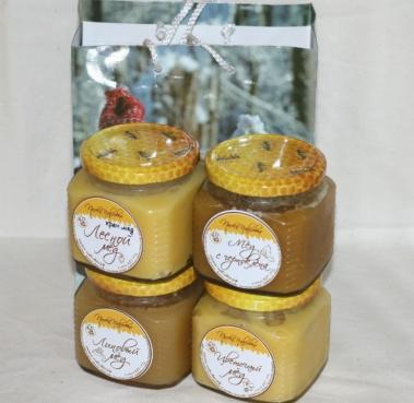 Подарочный набор 4 мёда №3